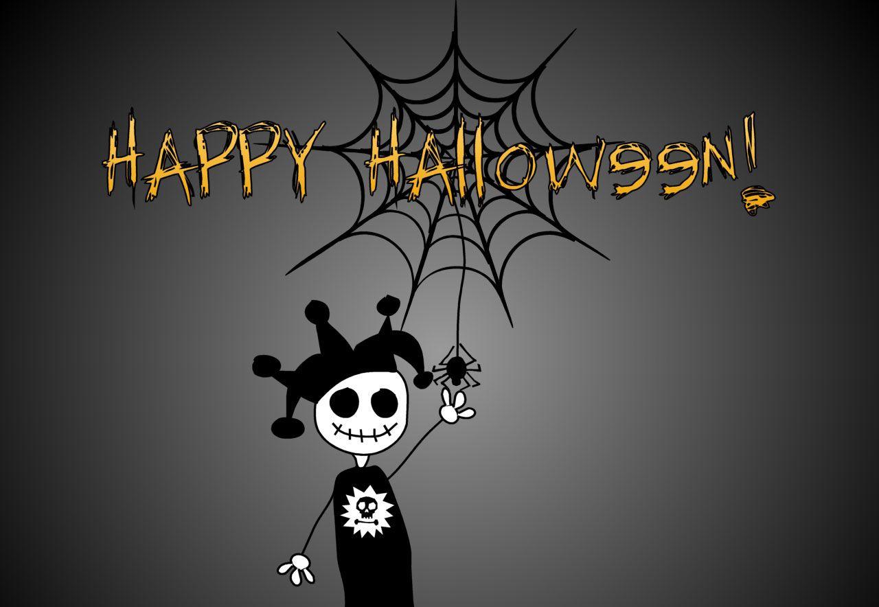 A creepy Halloween jester