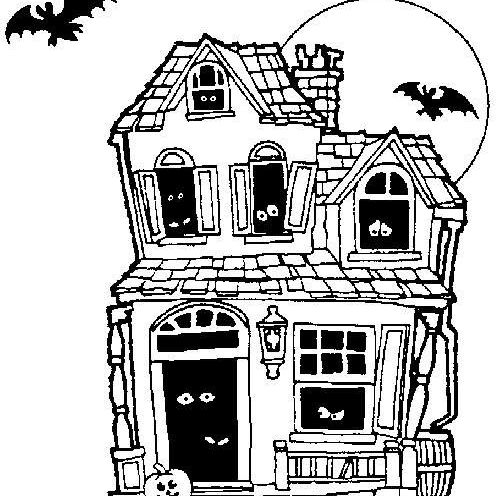 Haunted House Coloring Page 56a2c35d5f9b58b7d0ce4450
