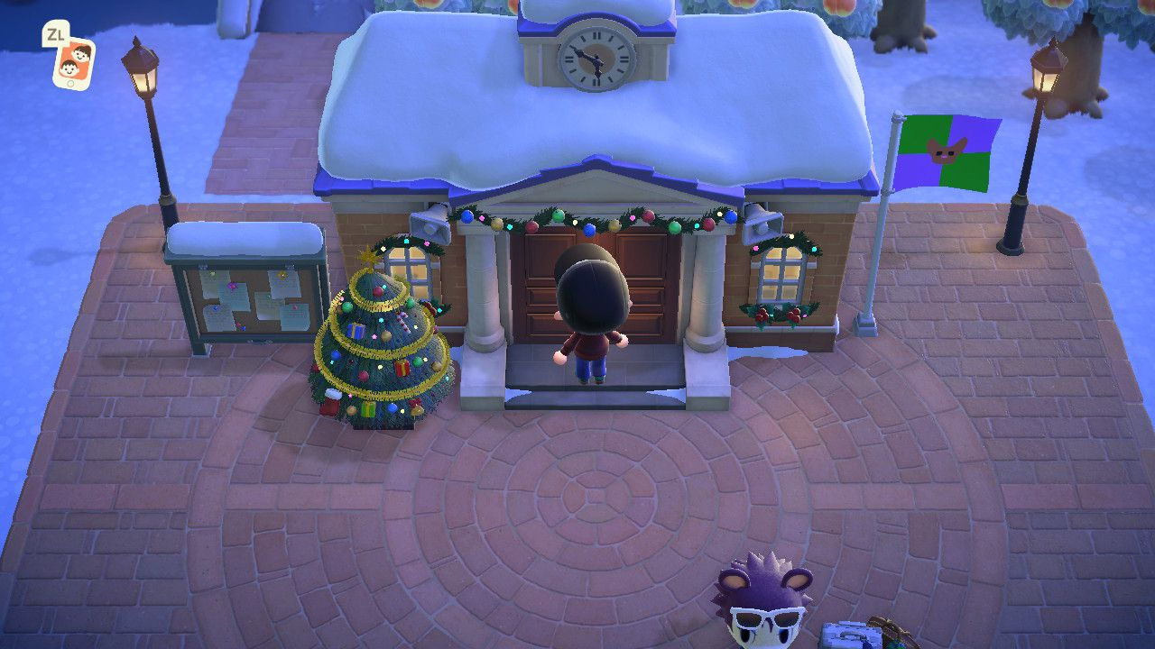 The Resident Services building in Animal Crossing: New Horizons