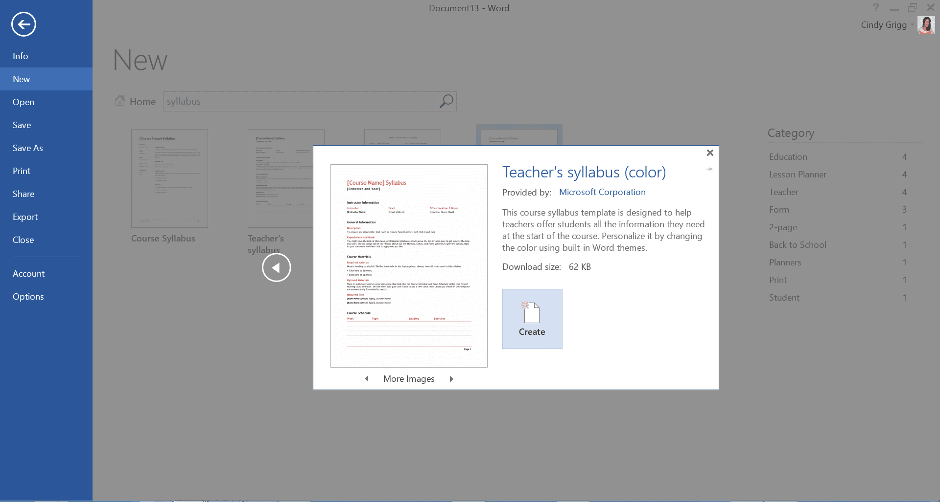 microsoft word syllabus template