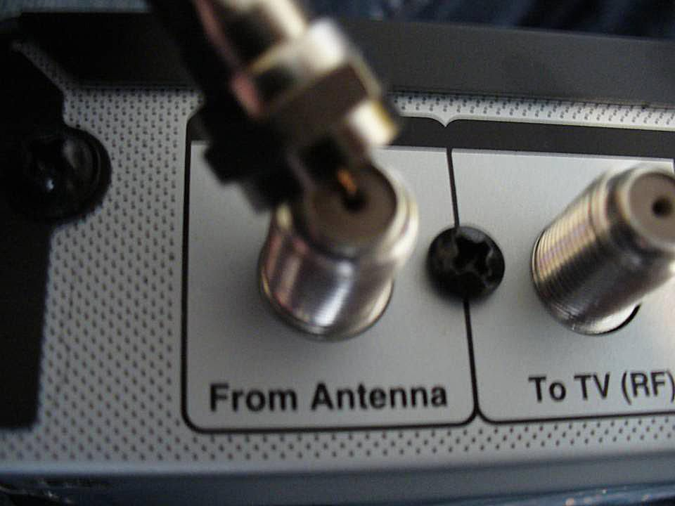 Disconnecting the output from the antenna