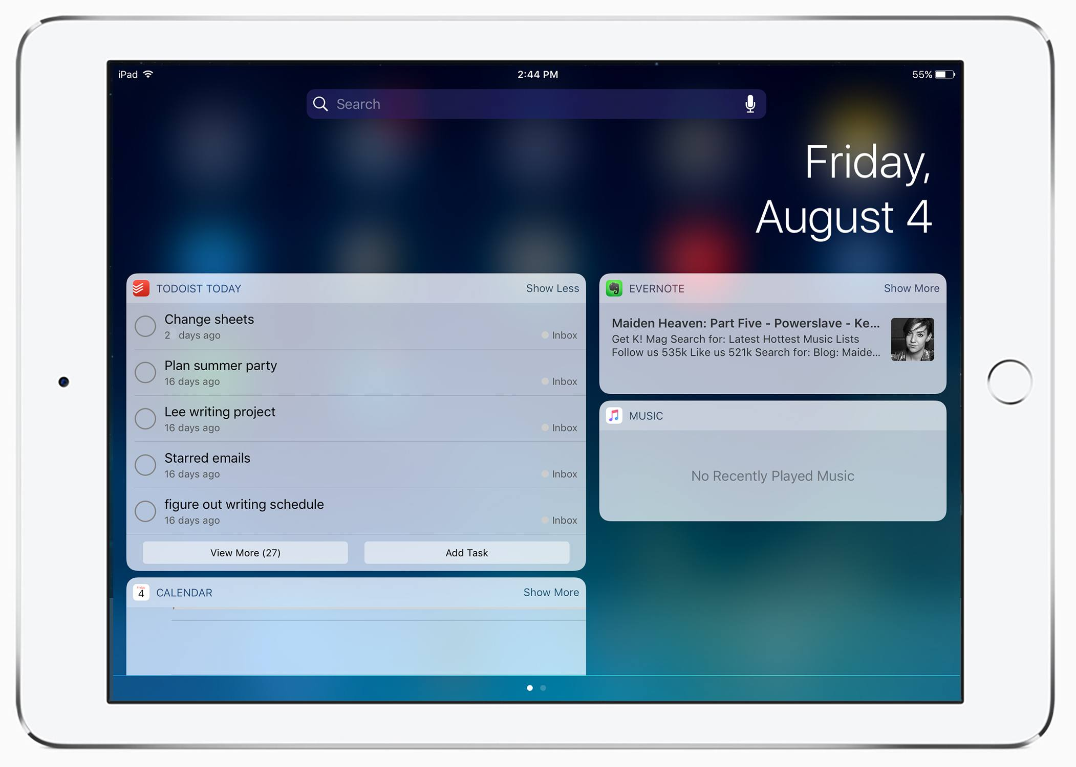 lockscreen iOS 10