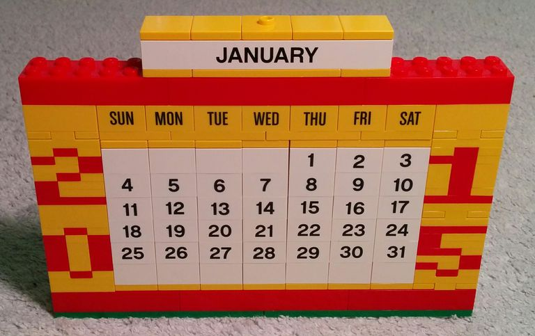 Improved LEGO Calendar Front