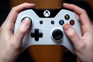 Xbox One video game controller.