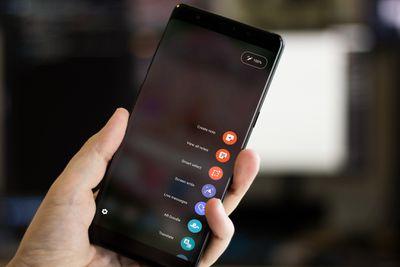 The Air Command menu on a Samsung Galaxy phone.