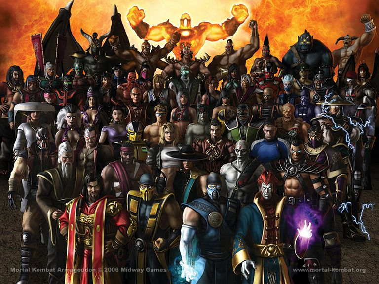 Characters from Mortal Kombat