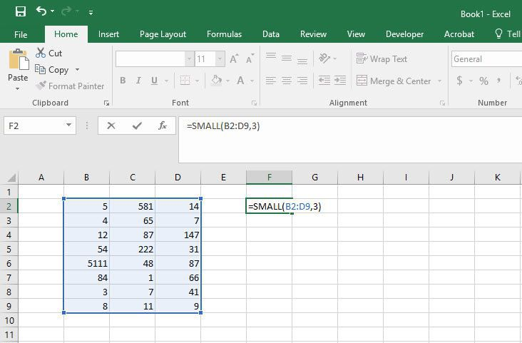 How to Use Excel's Small and Large Function