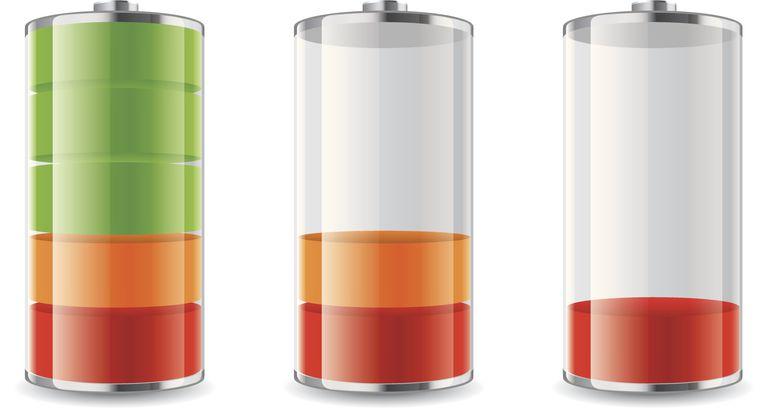 Illustration of discharging phone battery