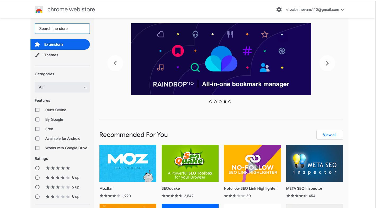 To install new extensions, navigate to the Chrome Web Store in your browser.