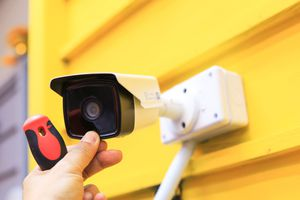 Image of mounting a security camera
