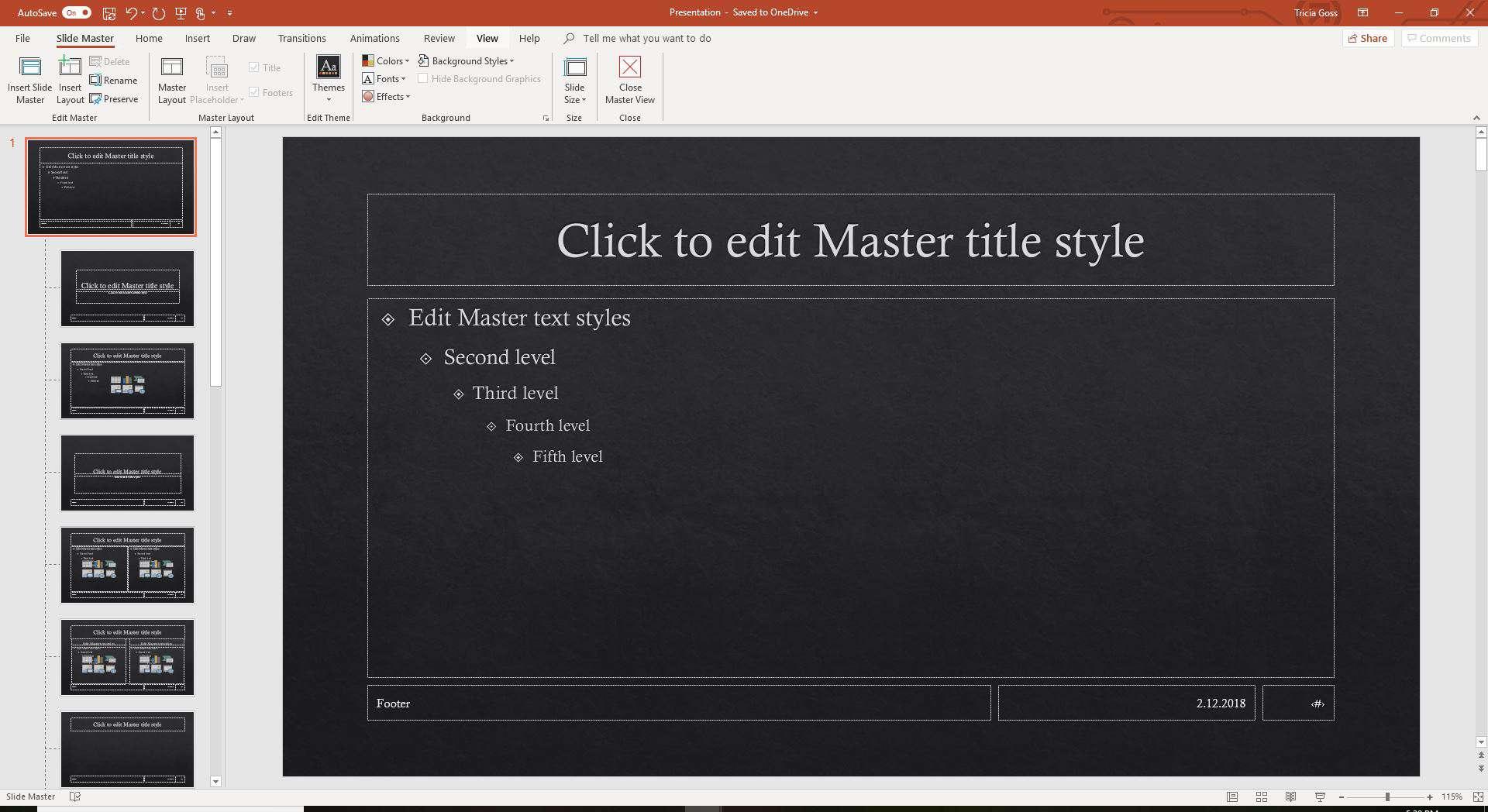 Slide Master in second PowerPoint presentation