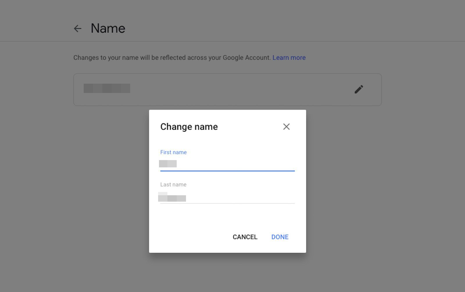 Nickname change account google Change the