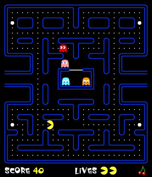 Screenshot of the free online game Flash Pacman