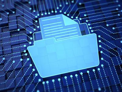 Digital file folder illustration