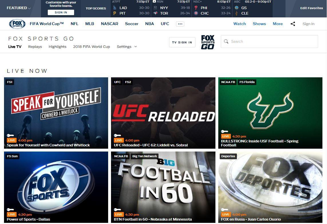 Fox sports go