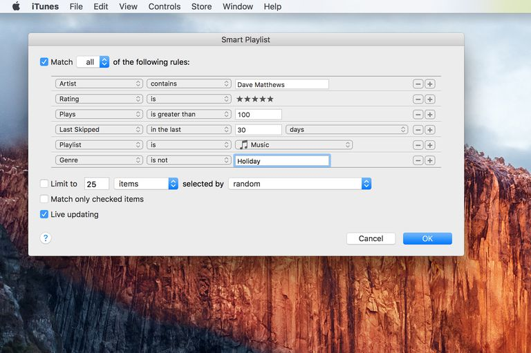 how to delete songs from itunes smart playlist