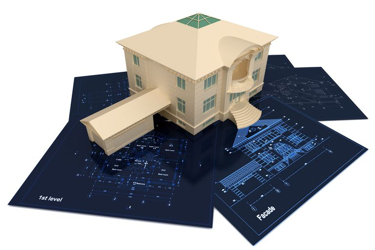 3d house and architectural drawings