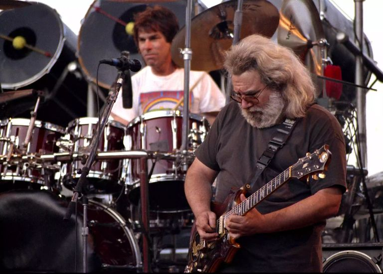 Jerry Garcia & Mickey Hart of the Grateful Dead