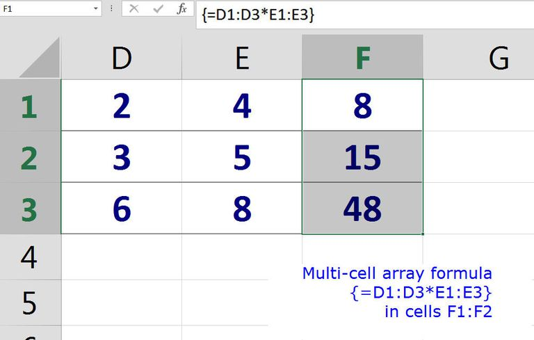 Excel Array Formulas