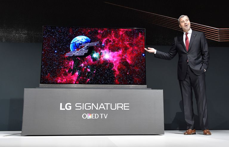 LG Signature 77 inch 4K HDR-enabled OLED TV