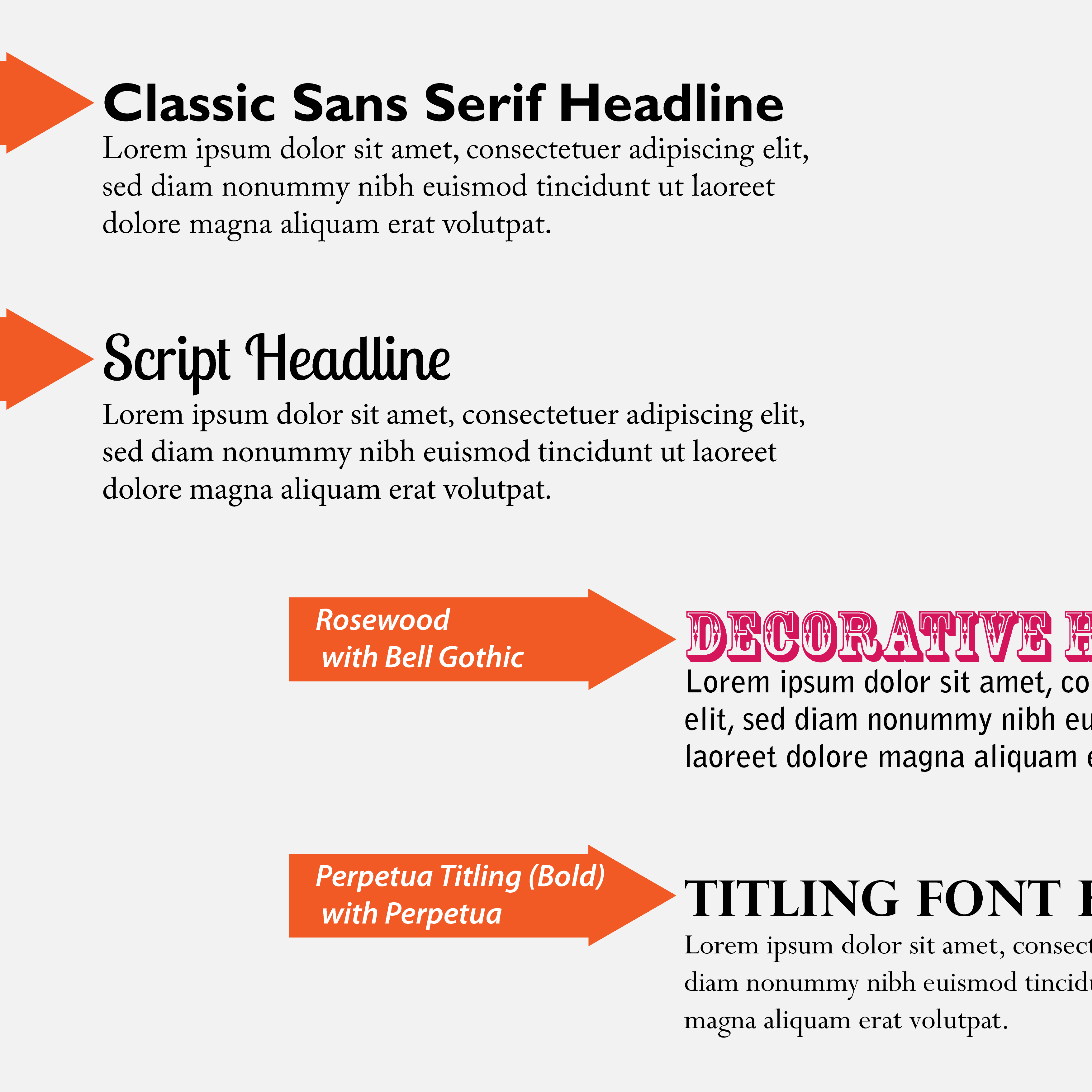 Choosing the best headline fonts