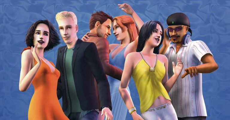 Several The Sims 2 characters in one snapshot