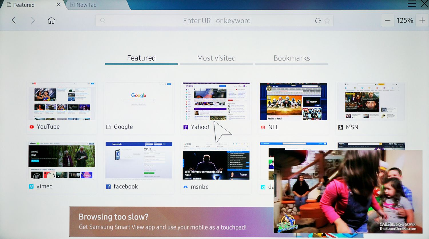 What is the Samsung Smart TV Web Browser?