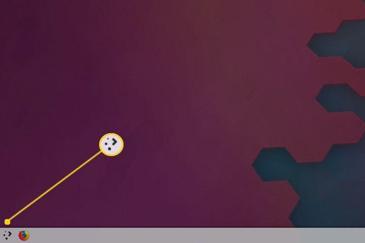 KDE Plasma menu button on Linux desktop