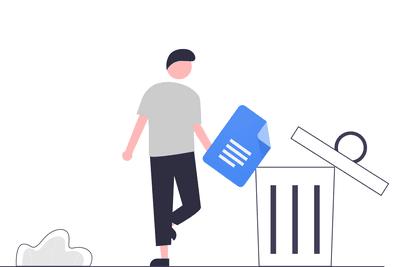 Illustration of the Google Docs trash folder