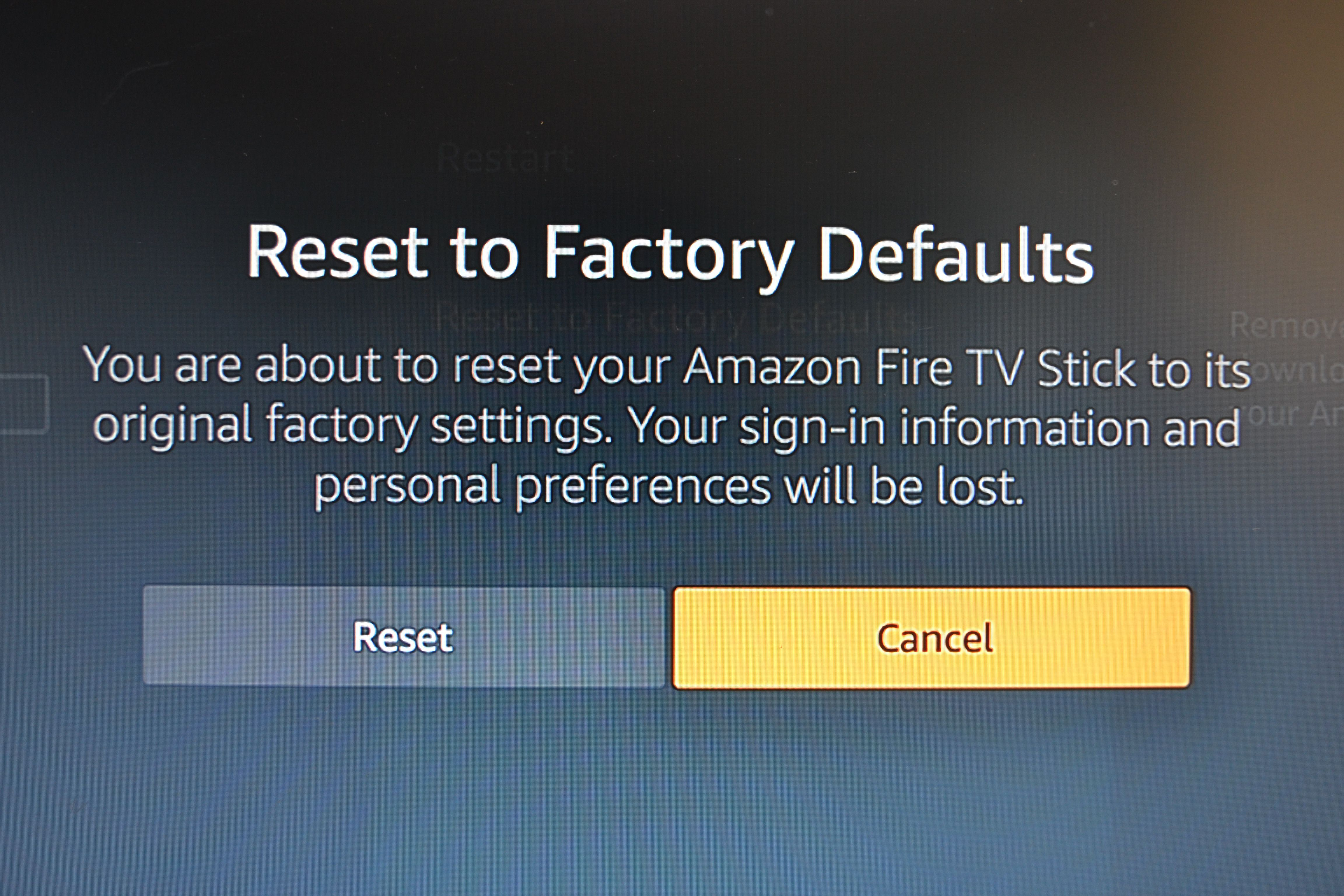 How to Reset a Fire Stick