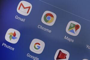 Chrome's icon on an Android phone.