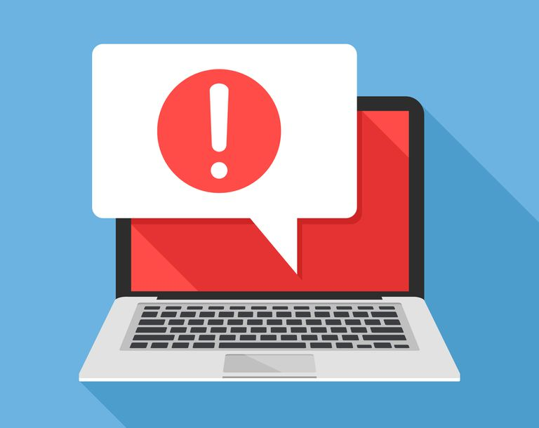 Error message on computer illustration