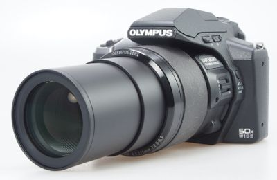Olympus camera with extended lens