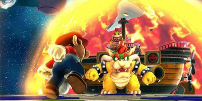 Super Mario Galaxy running in Dolphin Emulator for PC.
