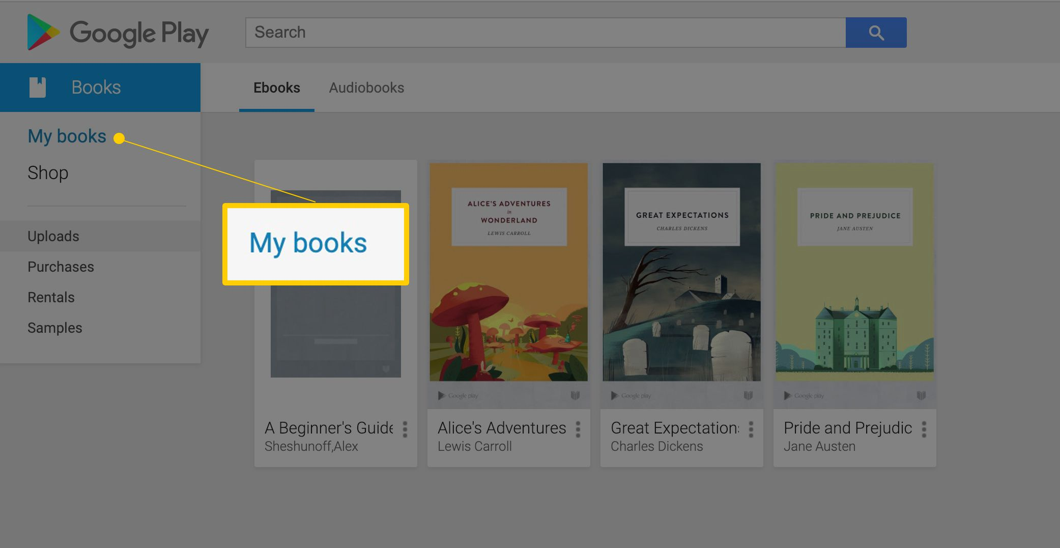 books google nook to to how play