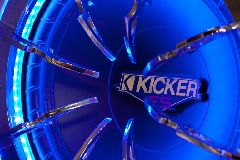 Close up of kicker subwoofer