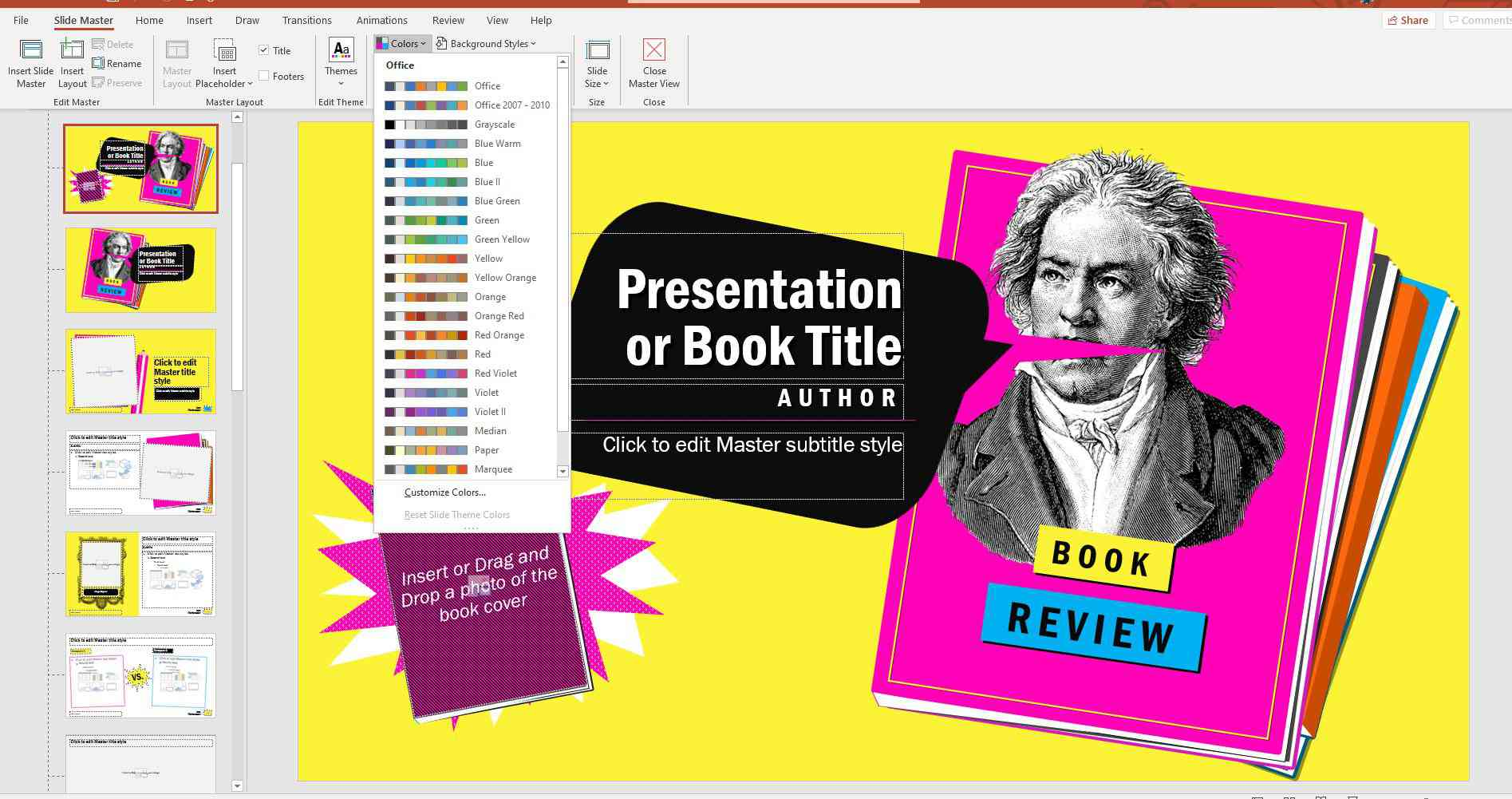 Color themes in PowerPoint