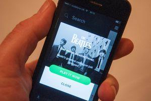 Spotify on a cellphone