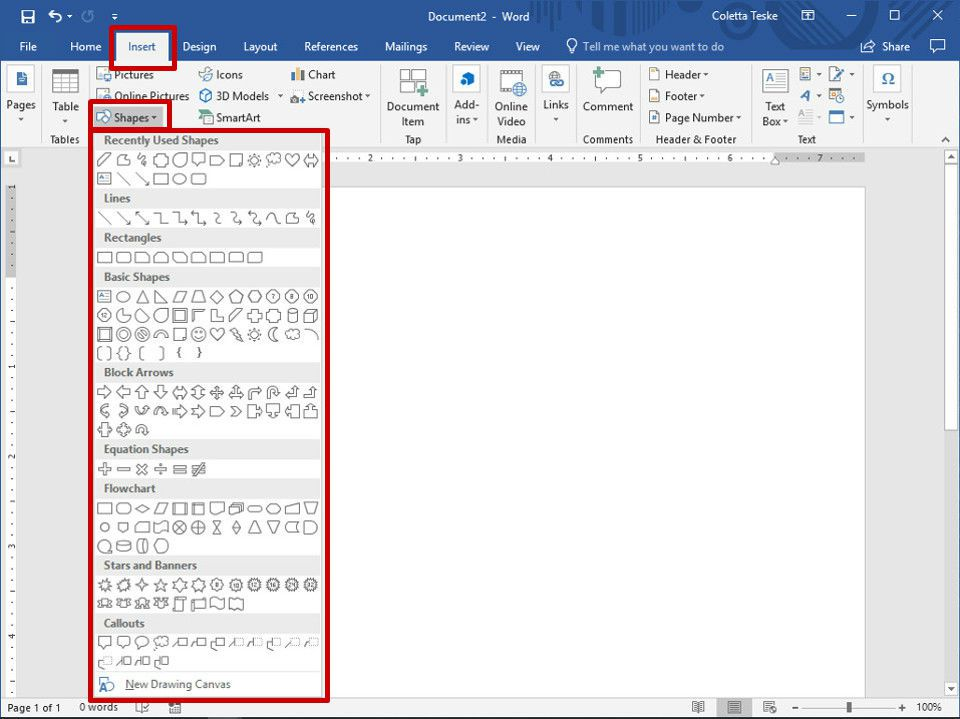 How to Create Freehand Drawings in Word