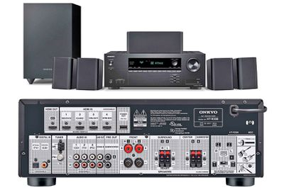 Onkyo HT-S3910 HTIB Front and Rear Views