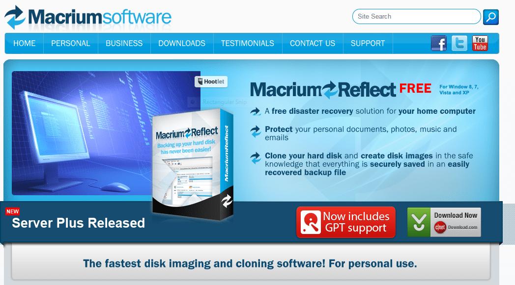 Macrium Reflect software