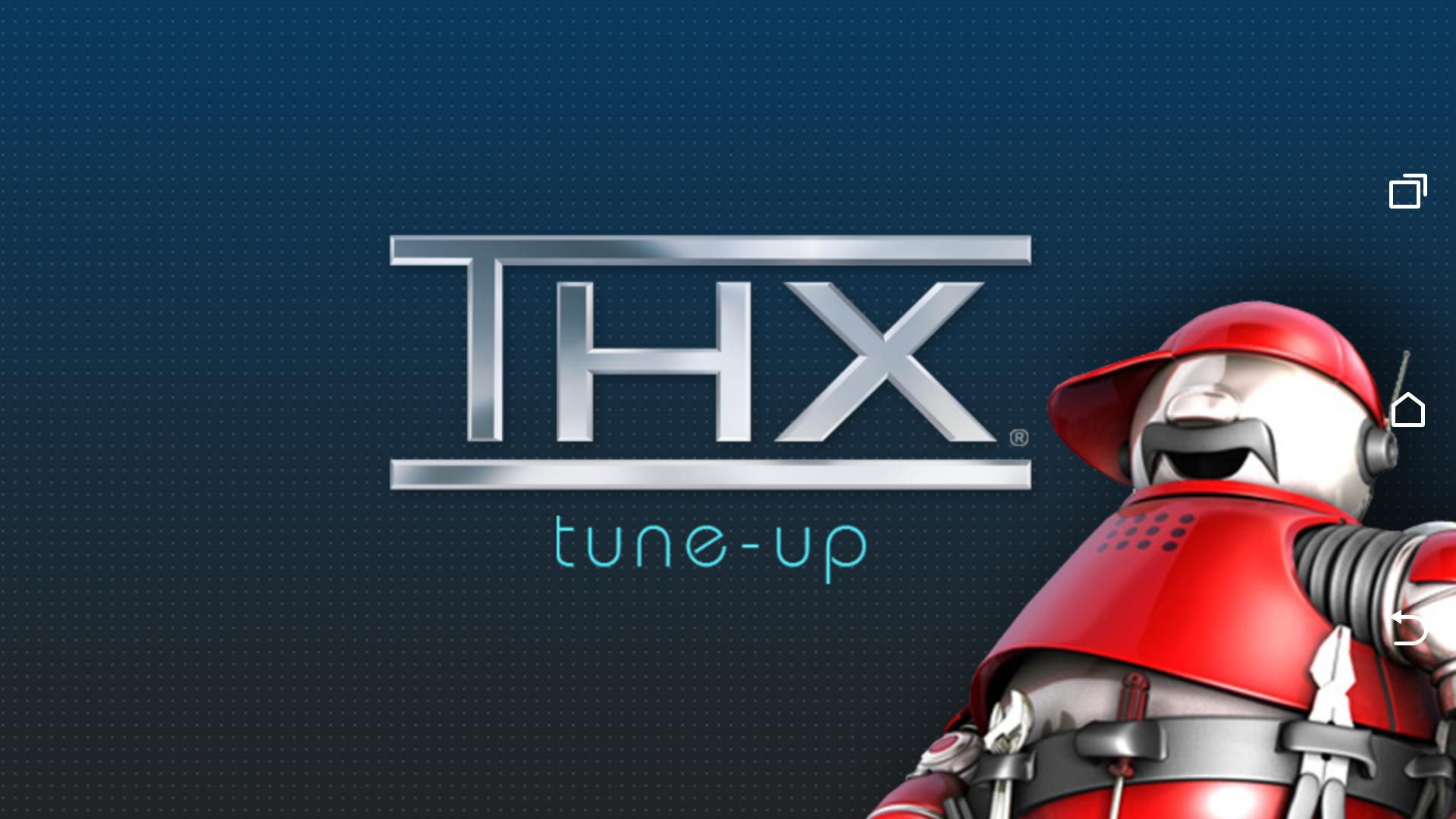 THX Home Theater Tune-Up App – Splash Page