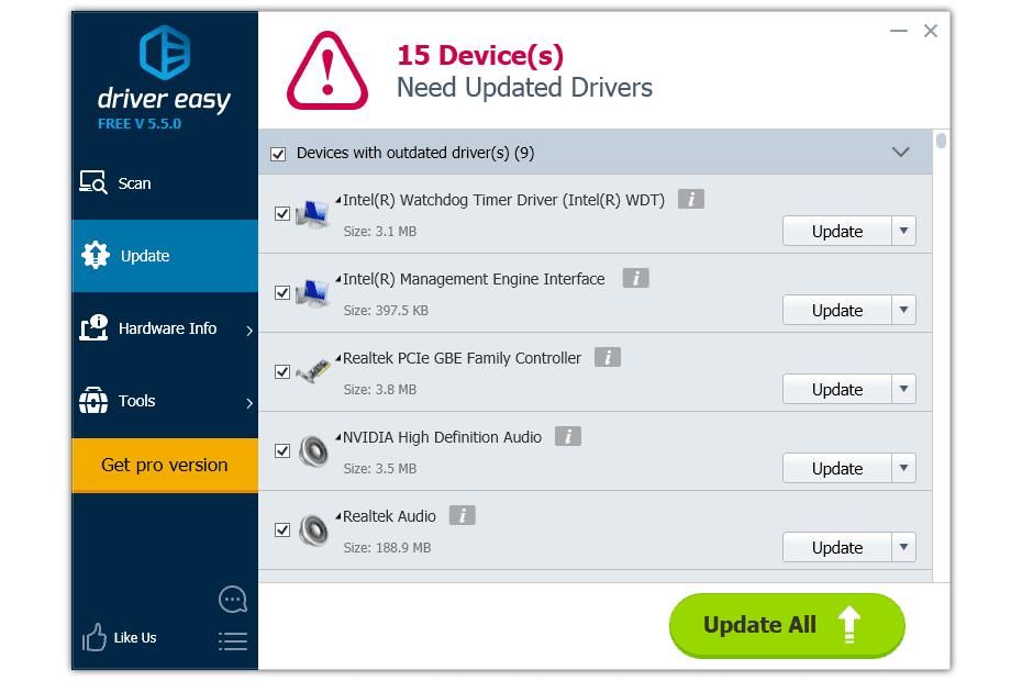 driver easy windows 10 full