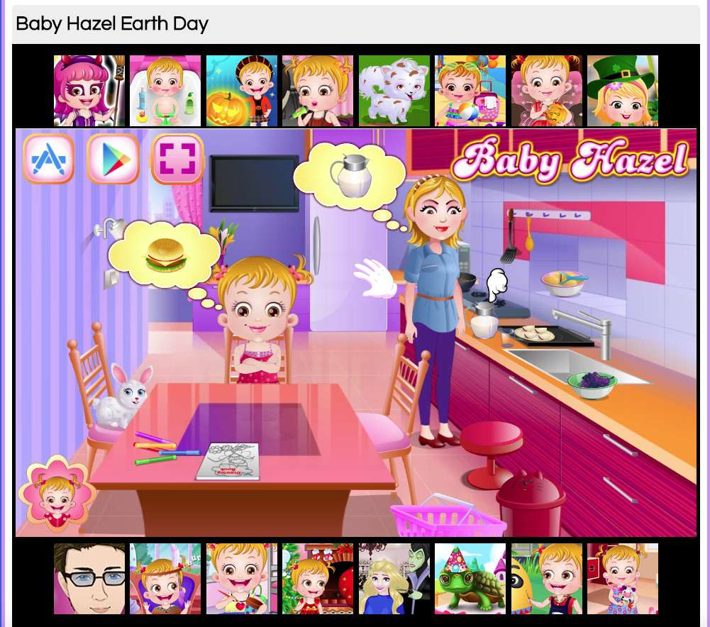 Baby Hazel Earth Day Game