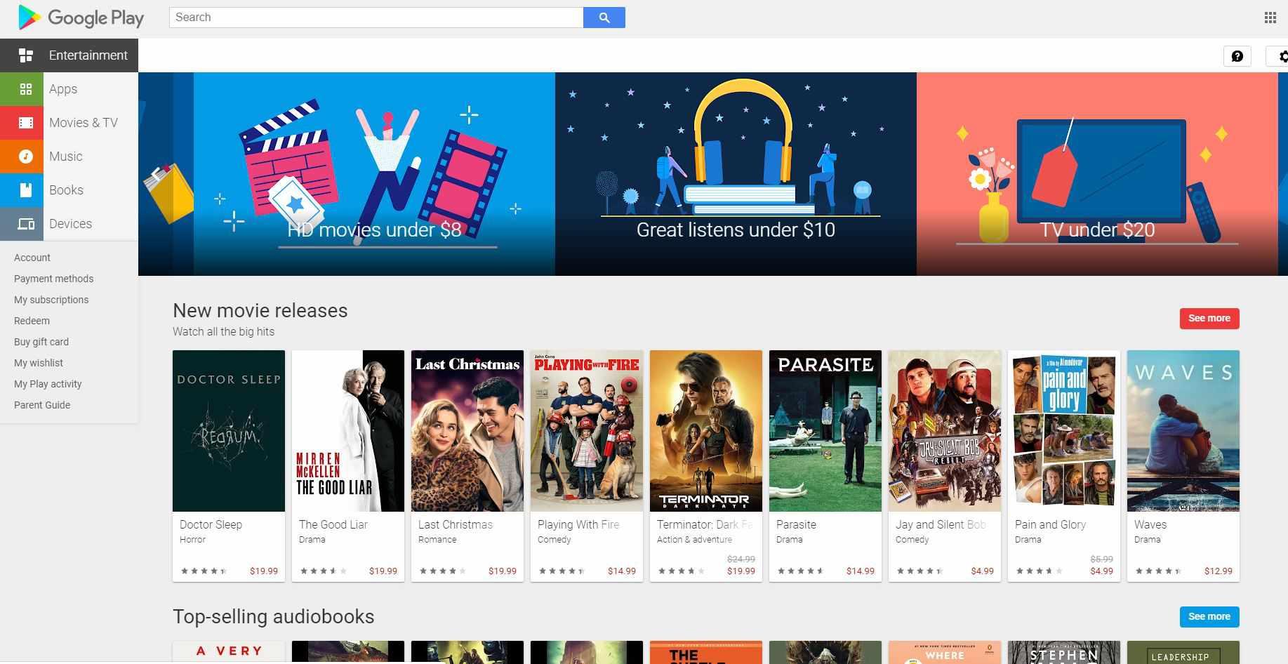 Screenshot of Google Play
