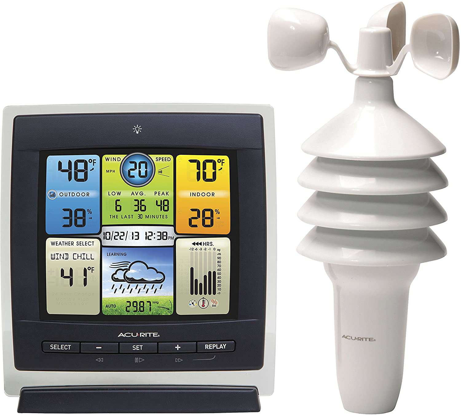 The AcuRite Notos 3-in1 Weather Station will tell you the weater.