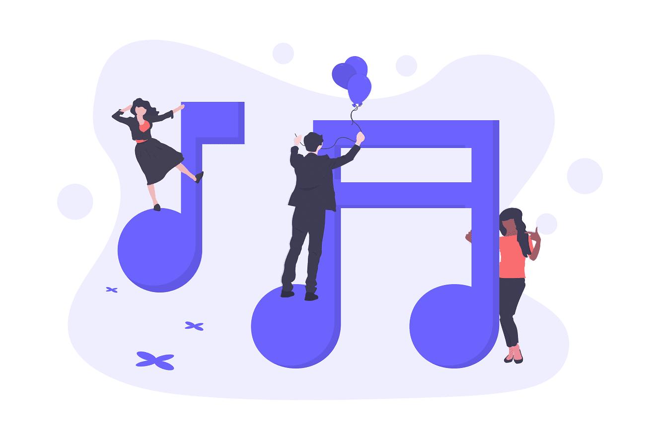 Composing music illustration