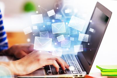 E-Mail Networking Concept