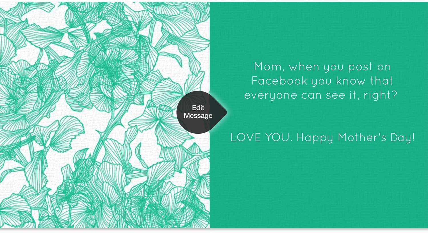 Sweet Blossom customizable e-card message from Punchbowl e-card website.