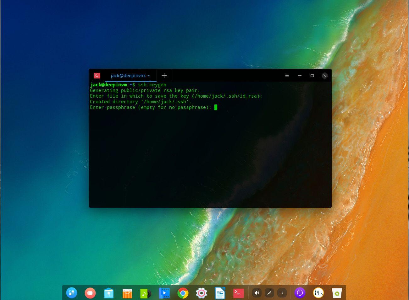 create ssh key linux